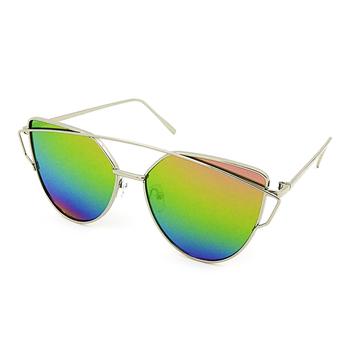 5508806975 cat 3 uv400 mirror lens cat eye metal frame custom logo polarized vintage  sunglasses