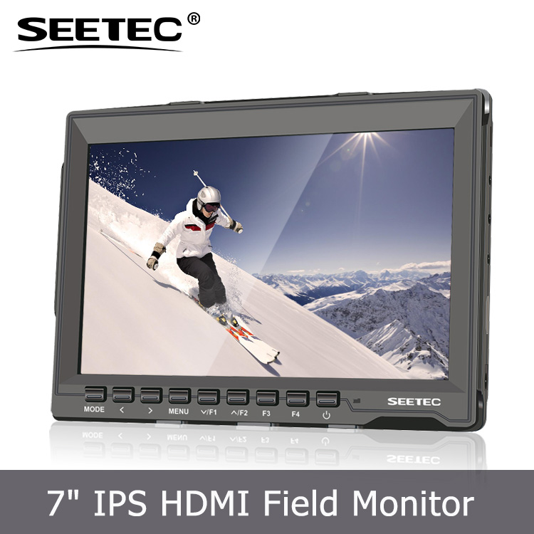 "Clip-on Portable 7"" Color TFT LCD Monitor HDMI 1280x 800Pixels with Standard Shoes for DSLR Camera Camcorder ST699"