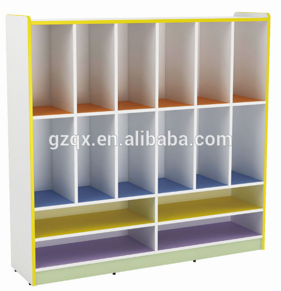 Classroom Cabinet Design : Newly design school bag and shoes wooden cabinet for kids