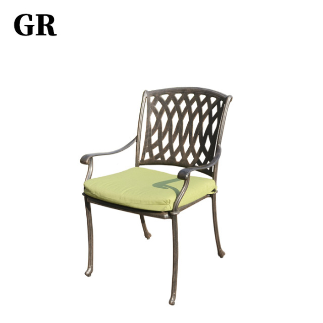 Custom Luxury Garden Or Resort Outdoor Furniture Cast Aluminum Chair
