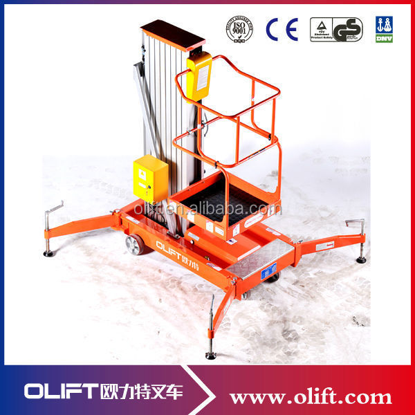 Portable China aluminum vertical small lift work platform