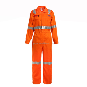 breathable men's safety flame resistant coverall