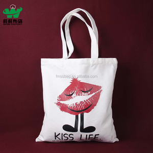 Custom logo high quality 12 oz natural color cotton canvas tote bag shopping handle bag