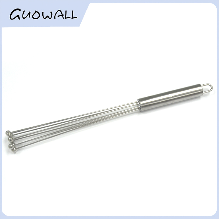 Stainless Steel Ball Whisk, Mixing Whisk with Little Rolling Ball