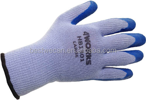 Seamless polyester Knit with latex coated Glove for landscaping or construction work