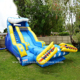 20' high kids wipeout inflatable water slide for sale made of best pvc tarpaulin