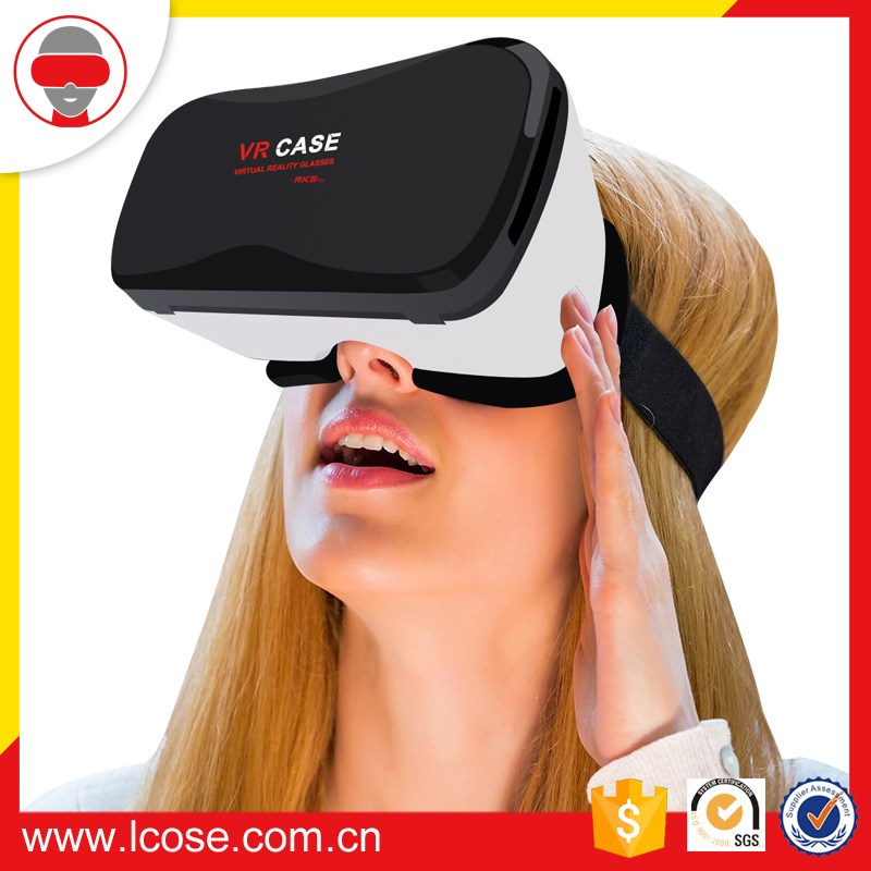 Lcose Leather VR Headset 3D Glasses Virtual Reality Helmet