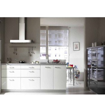 I Bentuk Pvc Ungu Desain Kabinet Dapur Untuk Kecil Dipasang