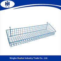 hanging metal storage basket for display stand