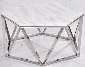 good quality marble top metal base coffee table home furniture
