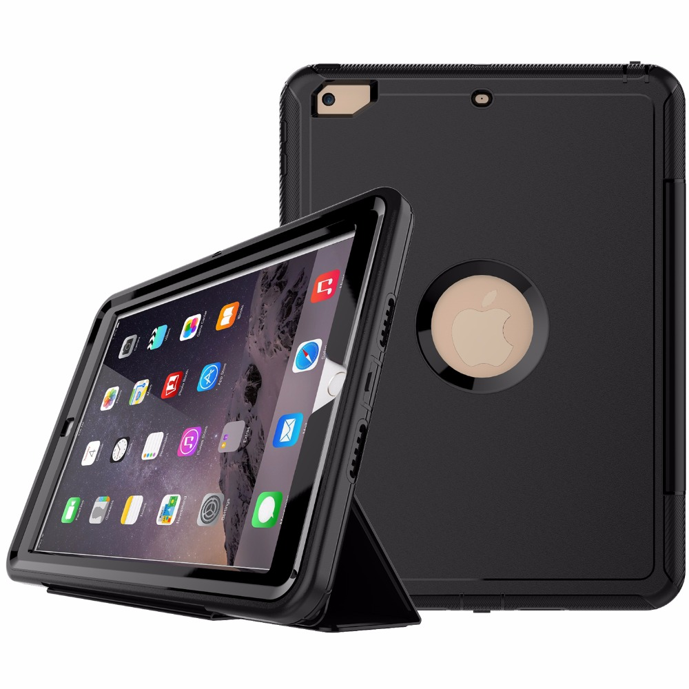 Full Body Rugged Protective Case for New Apple <strong>iPad</strong> 9.7 inch 2017