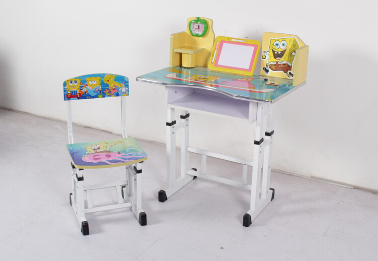 High Quality Adjustable Height Children Desk And Chair Kids Study Table And Desk
