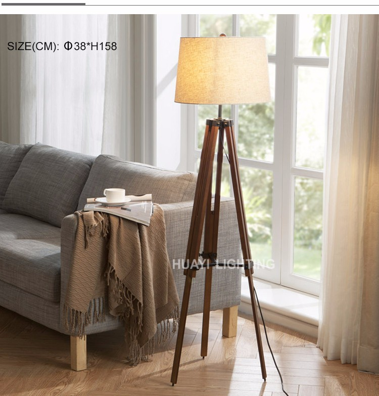 2019 Wholesale Creative Elevating tripod floor lamp , Modern floor standing lamps