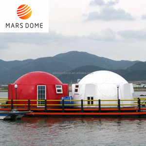 High quality well designed floating hotel dome house on water