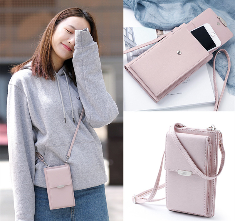 2018 <strong>Hot</strong> Sale Universal Crossbody Design PU Wallet Case Bag For Phone
