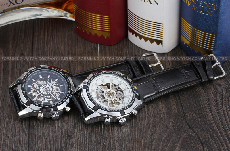China Skeleton Wholesale Automatic mechanical Gold Men Skeleton Stainless Steel Imported Watches
