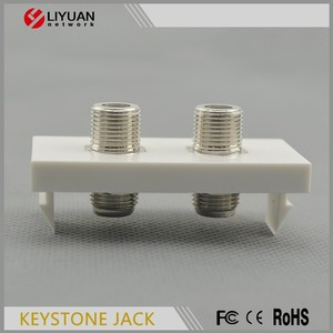 LY-FP181-2F F COAXIAL CONNECTOR WALL PLATE face plate