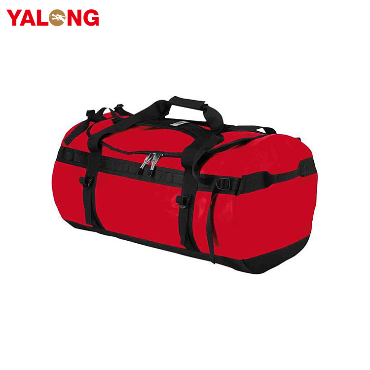 Wholesale outdoor gym 600D polyester waterproof duffle travel bag for women