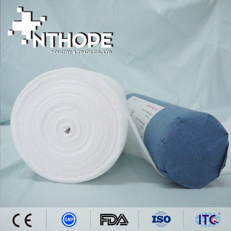Cotton x-ray absorbent gauze roll of high guality