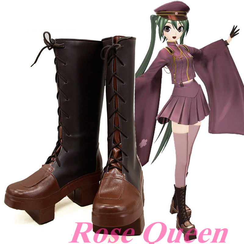 Clogs Senbonzakura Hatsune 99New Style VOCALOID Made Halloween Custom Free Shipping shoes Shoes Sandal Anime Miku Boots Cosplay costume US46 in mN80wvnO