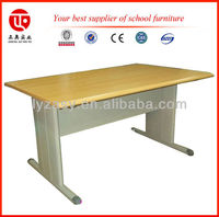 first line wooden double school desk and chair used in school