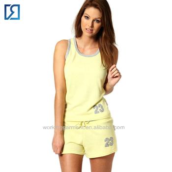 c3d0412222bc Home Clothes Summer Yellow Tee And Drawstring Shorts Pajama Set ...