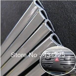 3 метров x 6 мм хромированной отделкой бампер воздуха вентиляционная решетка выключатель RIM планка