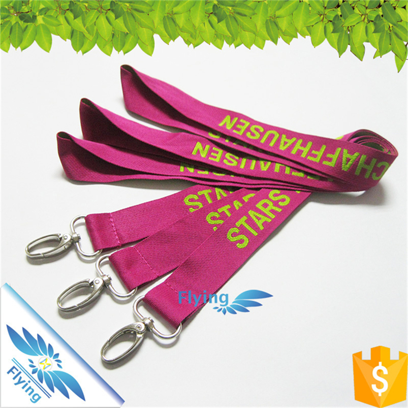plastic safety buckle custom woven jacquard polyester lanyard