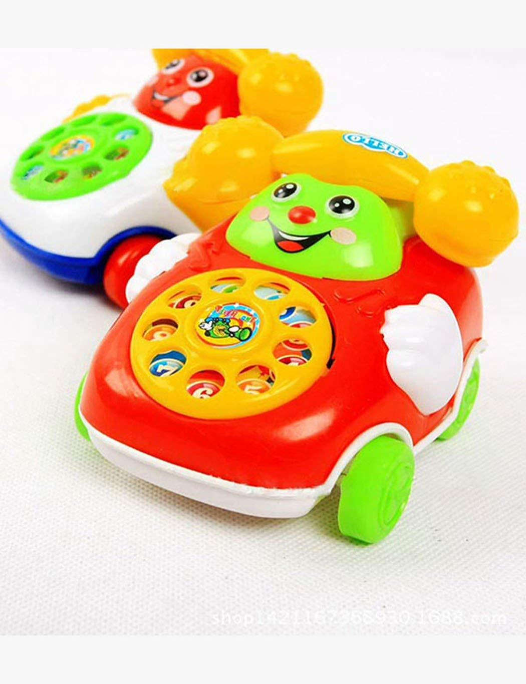 Yitrend Kids Baby Sound Toys Music Cartoon Car Phone Kids Educational Developmental Pull Line Toys Push & Pull Toys (Photo Color)