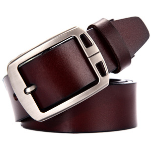 High Quality Casual Man Alloy Pin Buckle Belts New Style Popular Men Genuine Split Cow Leather Belt