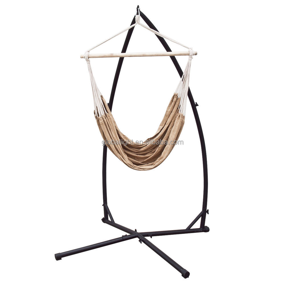 chair rope product cradle porch stand swing hammock cotton steel detail frame c