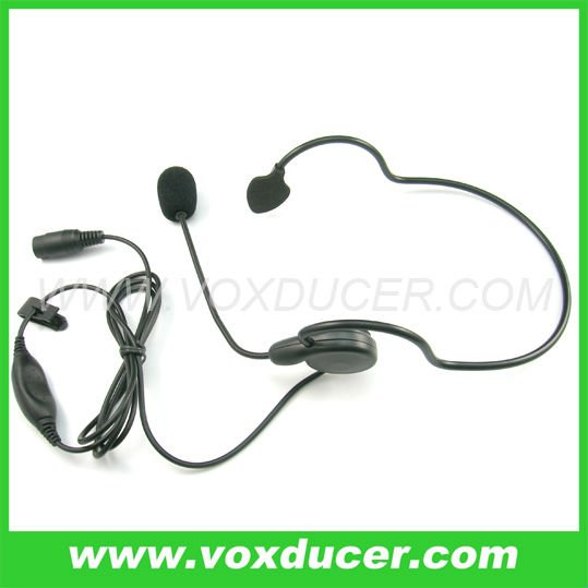 Adjustable boom Mic Earphone with PTT & 6 pin din connector Two way radio accessories