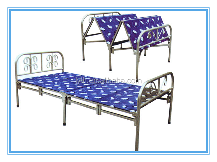 Metal antique price of folding bed / single folding metal bed