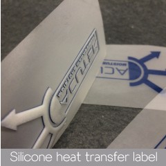 High quality silicone rubber heat transfer for custom 3d clothing label/molds