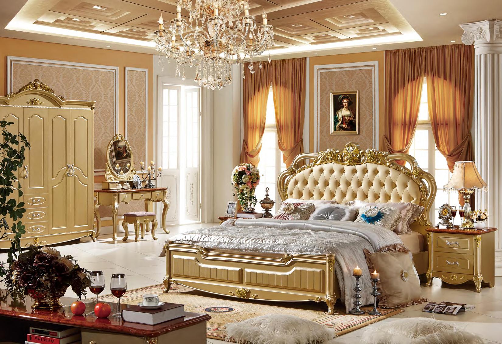 Camere Da Letto Stile Francese : Stile francese in legno massello letto camera da letto mobili d