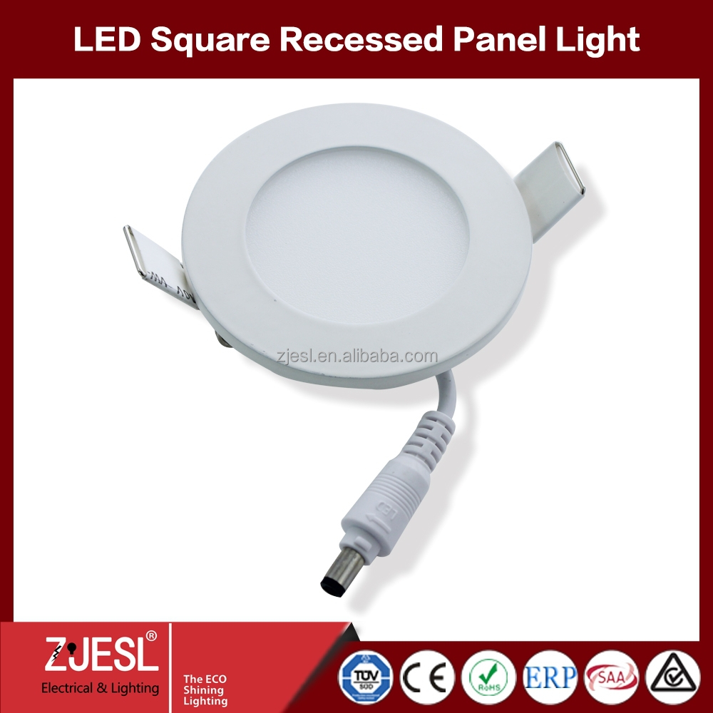 Embedded mini PS LGP round led panel light 18w