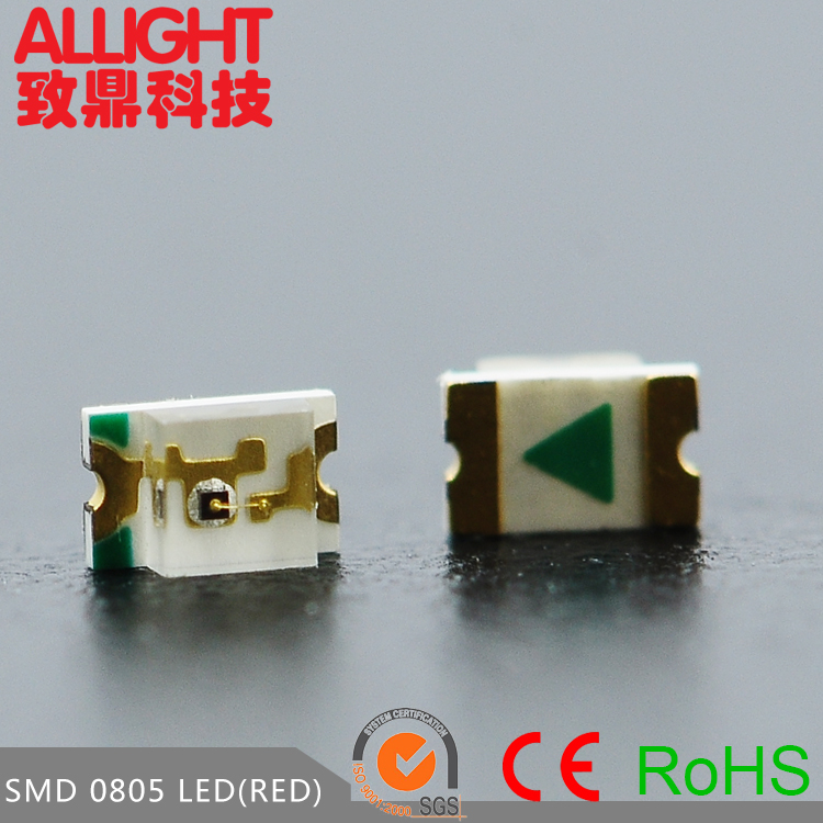 Dongguan Zhiding smd 0805 red led chip smt