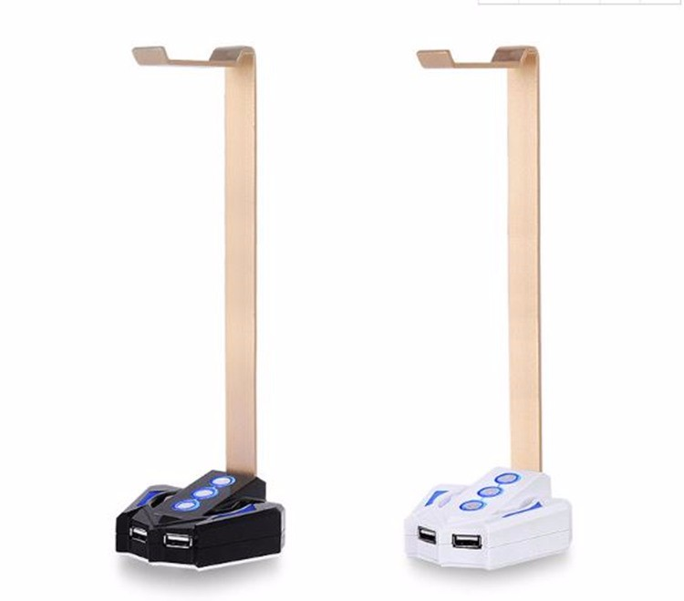 Hot Sale Power Switch With Usb Port And Headphone Stand For Desktop  Computer - Buy Headphone Stand With Usb Port,Headphone Stand With Power  Switch For
