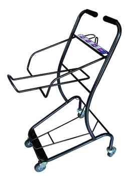 Supermarket 2-tier Rolling Shopping Cart Hl076k