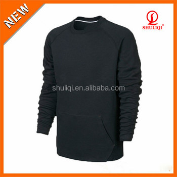 100% Polyester Custom Mens Crewneck Sweatshirt Plain Design