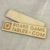 Custom embossed bamboo and wooden hang tag
