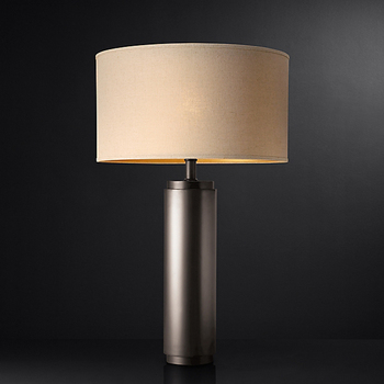 China suppliers led round metal table lamp modern for bedroom with E27 bulb