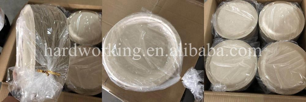 Placa redonda biodegradável do bagaço da cana-de-açúcar compostable em 10 polegadas