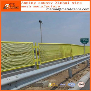Highway Road Expanded Metal Fence/ Expanded Metal Fence Panels/ anti-dazzling mesh fence