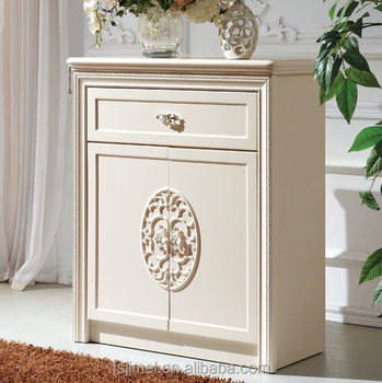 White Luxury Shoe Cabinet