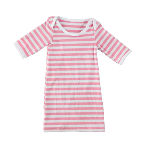 2017 pink and white infant toddlers kids clothes soft baby cotton romper girl gown