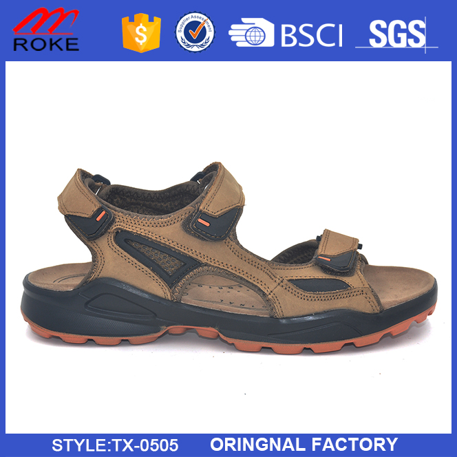 Outdoor sport hiking sandals mens leather sport sandal shoes for Pakistan Shoes