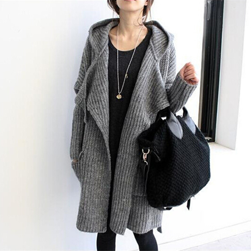 2015 new hot sale women's autumn winter long style knitted ...