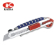 Retractable Box Cutter Utility Knife - EASY SELF LOADING Aluminum-Alloy Heavy Duty Knife with Total 6PCS Sharp Snap Off Blade