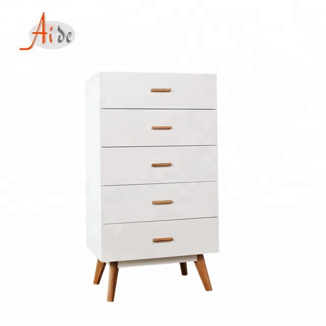 French oak scandinavian mirrored chest of drawers cheap multi storage cabinet design in living room